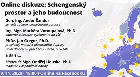 Online debata Schengenský prostor a jeho budoucnost 9.11.2020