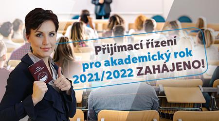 Přijímací řízení pro akademický rok 2021/2022 zahájeno!